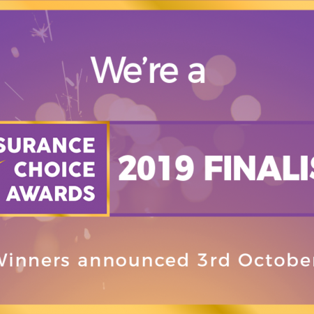 We're an Insurance Choice Awards 2019 Finalist!