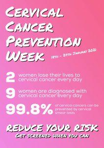 Cervical Cancer Prevention Week 2021 - Poster