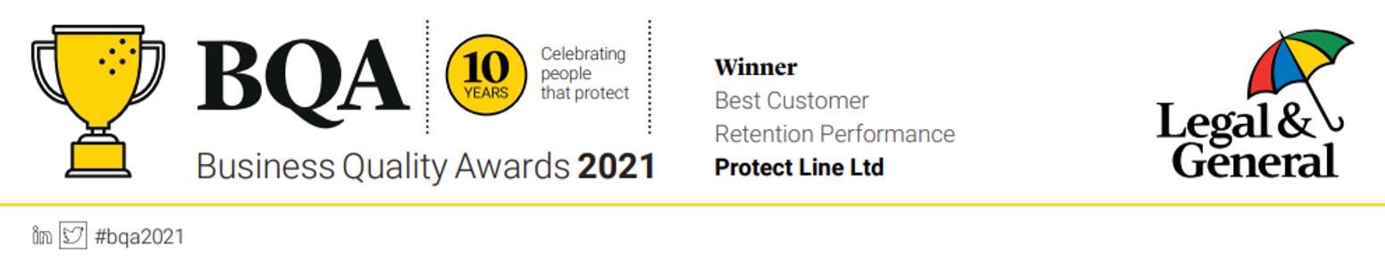 Protect Line Ltd wins L&G Business Quality Award 2021