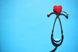 stethoscope with heart ontop